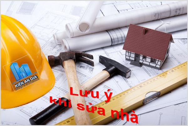 Những lưu ý khi sửa chữa cải tạo nhà ở