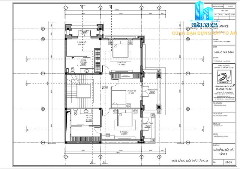 mặt bằng lầu 1 biệt thự 3 tầng
