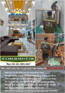 Dịch vụ sửa nhà huyện Củ Chi uy tín-chất lượng.