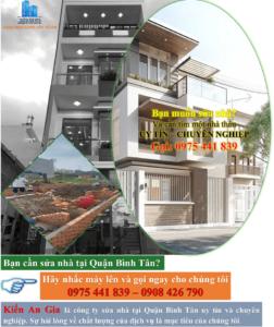 Dịch vụ sửa chữa nhà quận Bình Tân uy tín-chất lượng.
