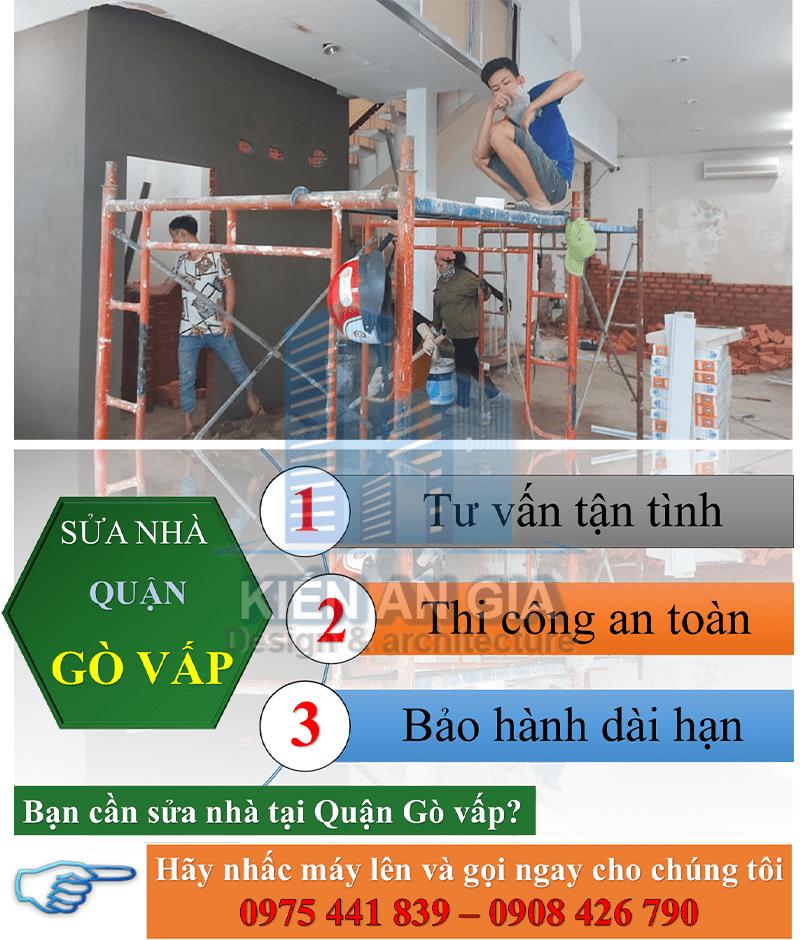 Dịch vụ sửa chữa nhà tại quận Gò Vấp.