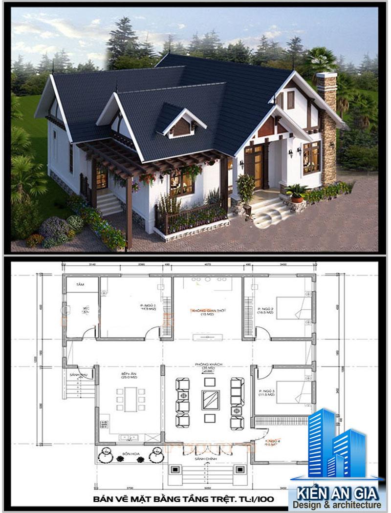 Đơn giá xây nhà cấp 4 mái thái có gác lửng, xây nhà cấp 4 gác lửng, xây nhà cấp 4 mái thái.