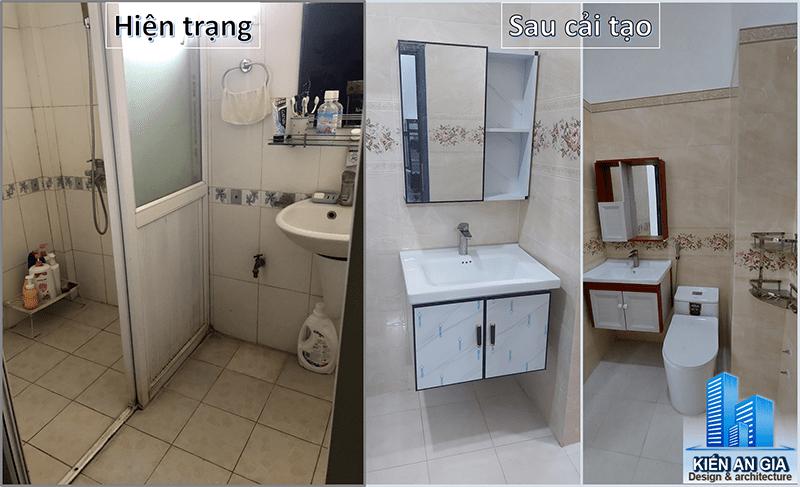 Nhà vệ sinh trở nên tiện nghi hơn sau khi sửa chữa.