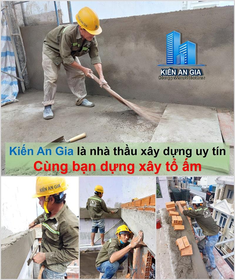 Công nhân lành nghề, thi công an toàn - chất lượng.