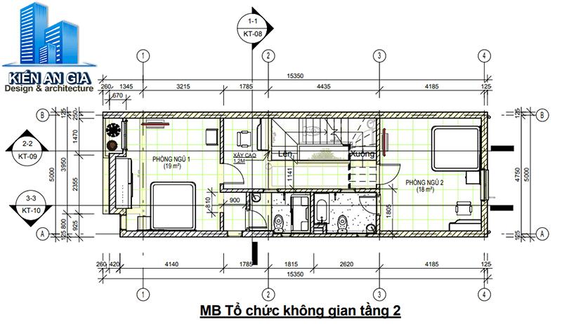 Tính diện tích sàn xây dựng tầng 2